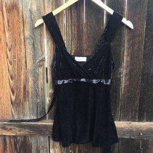 Ally B. Black Velvet Blouse